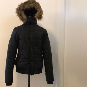 Jack & Jones Faux Fur Hood Puffer